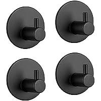 Adhesive Hooks Heavy Duty Wall Hooks Waterproof Stainless Steel Hooks for Hanging Coat, Hat,Towel Robe Hook Rack Wall…