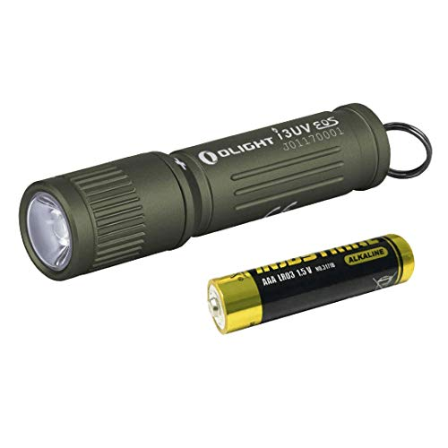 Olight I3UV EOS – Linterna LED ultravioleta (395 nm, incluye pilas AAA incluidas)