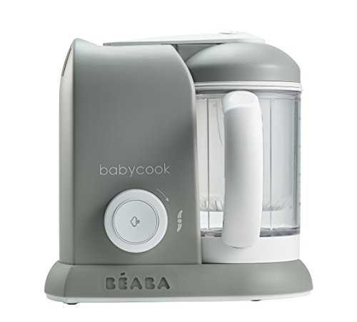 BEABA Babycook 4 in 1 Steam Cooker & Blender and Dishwasher Safe, 4.5 Cups, Cloud
