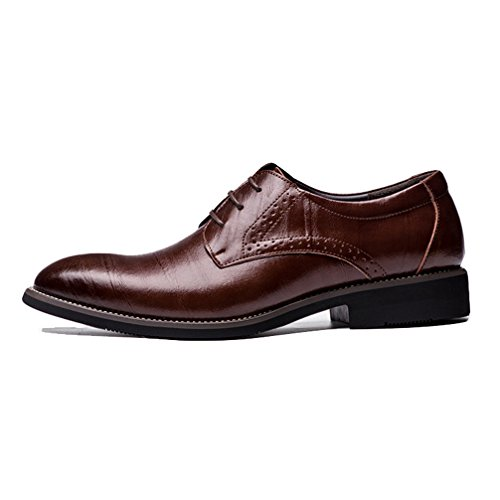 Phil Betty Men Dress Shoes,Classic Flat Wingtip Carved Formal Oxford shoe by Phil Betty