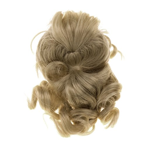 Homyl Long Curly Ponytail Wig Gold Hair for 1/6 BJD Dollffie MSD LUTS SD Dolls Hairpiece DIY Making Repair Accessory