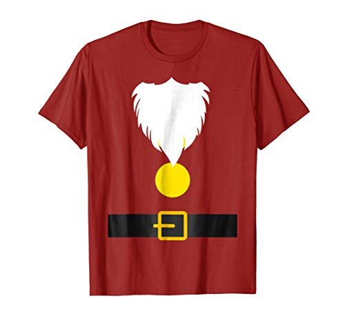 Mens Funny Dwarf Costume T-Shirt for Halloween or Christmas Medium Cranberry ()