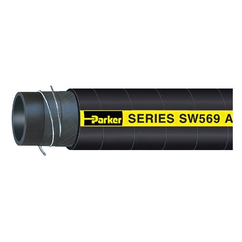 Exhaust Marine Hardwall (Parker Hannifin SW569-1625 Black Nitrile Armada Marine Multipurpose Fuel Fill/Vent and Hardwall Wet Exhaust Hose, 50', 1-5/8