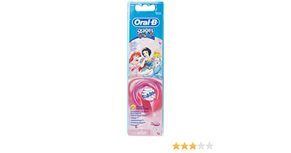 Braun Oral-B Stages - Cabezales de repuesto para cepillos de dientes para niños Disney Princess pack de 2: Amazon.es: Salud y cuidado personal