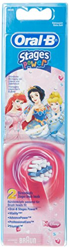 Disney Brush - Braun Oral-B Stages Power Kids Replacement Brush Heads Disney Princess 2 Pack