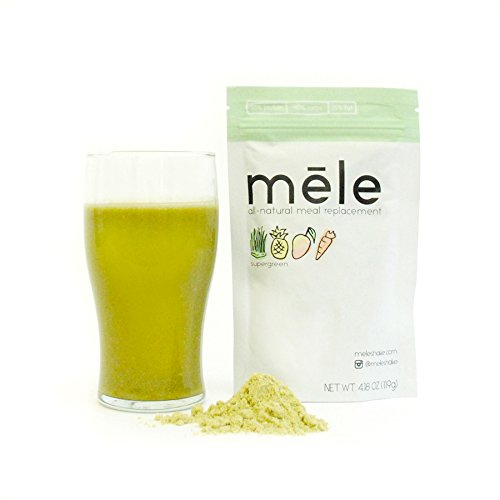 Mele, All-Natural Meal Replacement, Supergreen // 500 calories // NO ADDED SUGAR, NON-GMO, NO SOY, NO PRESERVATIVES, NO TRANS (Full Meal Replacement)