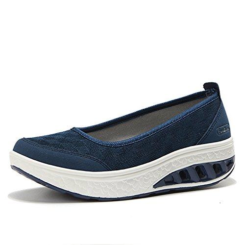 Fatyet 船型底ナースシューズ レディース ダイエットシューズ 厚底スニーカー 姿勢矯正 ダイエット 美脚 軽量 ローファー ウォーキングシューズ 看護師 作業靴 歩きやすい 疲れない 婦人靴 厚底シューズ