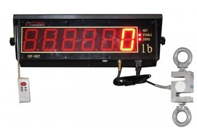 1,000 LB x 0.2 LB Optima Hanging, S-Hook Crane Scale & Scoreboard Display NEW by Prime USA