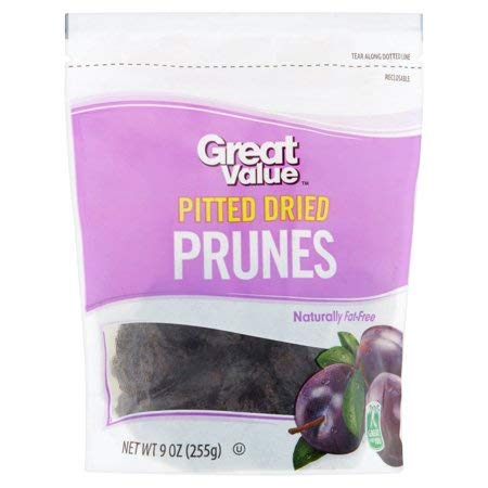 Pitted Dried Prunes, 9 oz,Naturally Gluten-Free Food,Fat-Free,No Artificial Flavors Or Colors,A Great Healthy and Tasteful Snack,Good Source of Fiber,Pack of 5