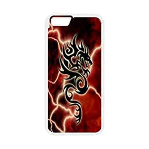 iPhone6s Plus 5.5 inch Phone Case White Dragon tribal WQ5RT7464754