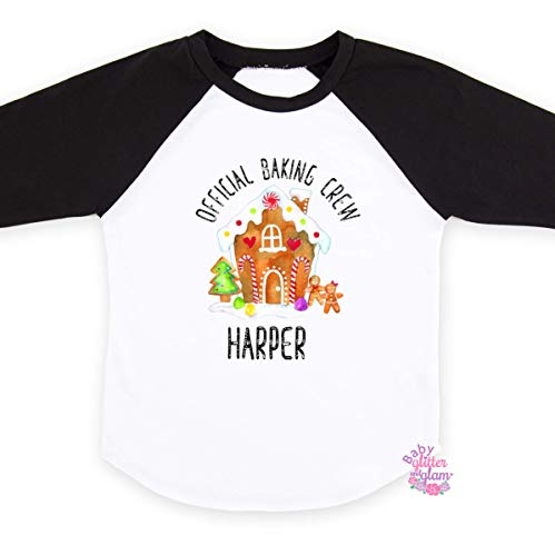 Gingerbread House Shirt for Boys Girls Gift for Kids Christmas Raglan