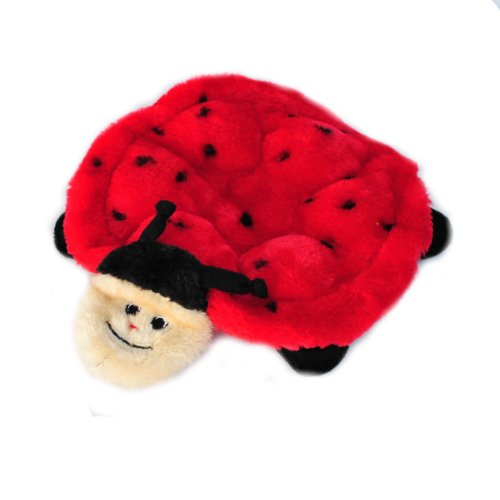 - ZippyPaws - Crawlers, 6-Squeaker Plush Dog Toy - Betsey The Ladybug