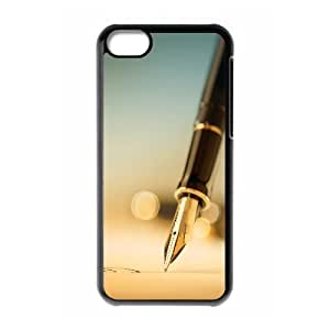 XiFu*Meiiphone 6 plua 5.5 inch Case,Pen Closeup Hard Shell Back Case for Black iphone 6 plua 5.5 inch Okaycosama351845XiFu*Mei