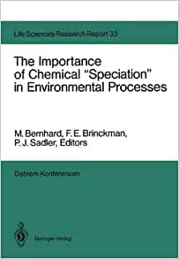 chemical speciation in the environment pdf