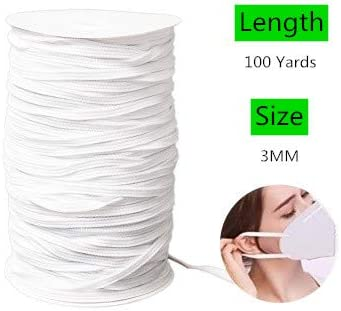 10PCS 16 Color 3 Yards Length Flat Elastic Band Heavy Stretch High Elasticity Knit Elastic Band Elastic String Cord for Sewing Craft DIY Rope 3mm 10 Color