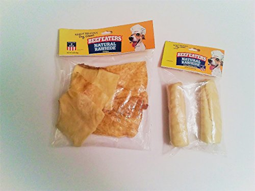 Beefeaters Natural Rawhide Chips and Rolls Made in the (Beefeaters Rawhide Chips)