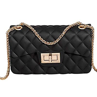 Women Fashion Jelly Shoulder Bag Mini Clutch Handbag Crossbody Bags with Chain Strap