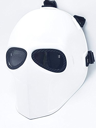 Airsoft Full Face Mask Army of two Cosplay Halloween mask Paintball Ghost Masks (Red) (White) ()