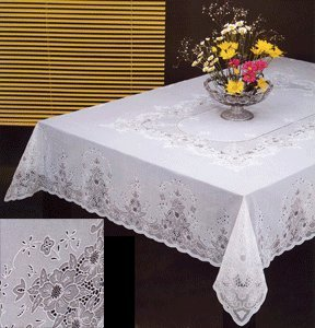 amazoncom tablecloth vinyl lace 70 inches round white home kitchen - Kitchen Table Covers Vinyl