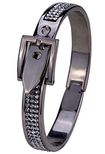 YACQ Jewelry Women's Crystal Belt buckle Bangle Bracelet Adjustable Belt Buckle Bangle Bracelet