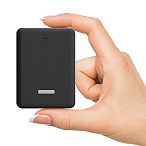 eller santé ® Smallest Pocket Size Power Bank 10000mAh Portable Dual USB Li-Polymer Fast Charging Power Bank -Black