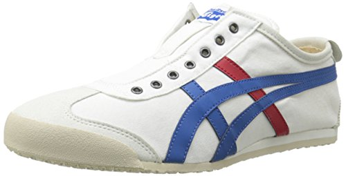 Onitsuka Tiger Unisex Mexico 66 Slip-on Shoes D3K0N, White/Tricolor, 10 M US ()