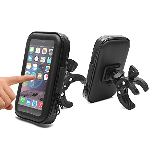 Bike Phone Mount,AEMIAO Universal Waterproof Motorcycle Phone Holder,360 Degrees Rotatable Phone Holder for Smartphones Up to 5.3