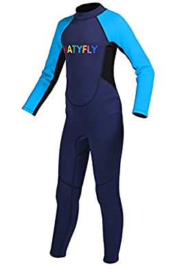 Kids Wetsuit NATYFLY Neoprene Long Sleeves Diving Suits for Boys Girls