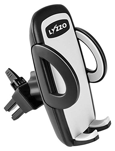 LYZZO Universal Smartphone Car Air Vent Mount Holder Cradle for iPhone Xs XS Max XR X 8 8 Plus 7 7 Plus SE 6s 6 Plus 6 5s 5 4s 4 Samsung Galaxy S6 S5 S4 LG Nexus Sony Nokia and More ()
