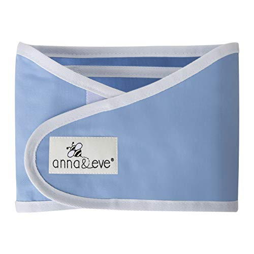 Anna & Eve - Baby Swaddle Strap, Adjustable Arms Only Wrap for Safe Sleeping - Blue, - Tone Band Ss
