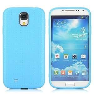 20150511 malla color sólido TPU gel patrón de diseño caso de la contraportada para Samsung Galaxy S4 i9500 i9505 i9508 i9509 (colores surtidos) , Black
