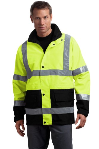 CornerStone Men's 107 Class 3 Waterproof Parka XL Safety Yellow by Cornerstone (Image #1)
