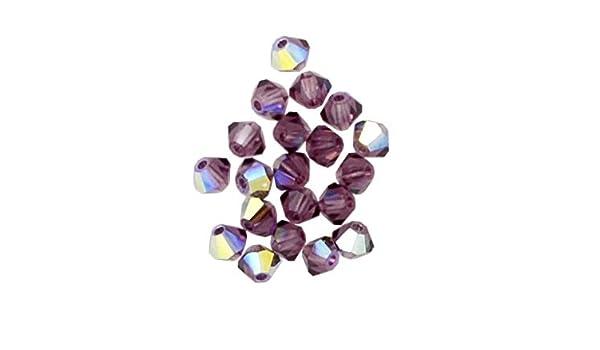 bd10ec7b14ab7 Amazon.com: 50 pcs 8mm Swarovski 5301 Crystal Bicone Beads, Light ...