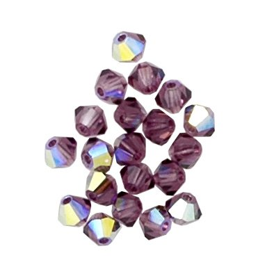 50 pcs 8mm Swarovski 5301 Crystal Bicone Beads, Light Amethyst AB SW-5301