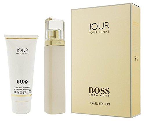 Hügo Böss Jŏur Pour Femme 2 PieceGIFT SETTravel Edition Includes: 2.5 oz Eau de Parfum + 3.3 oz Body (Boss Femme Gift Set)