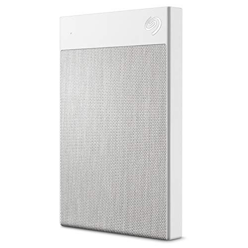Seagate Backup Plus Ultra Touch 2TB External Hard Drive Portable HDD - White USB-C USB 3.0, 1yr Mylio Create, 2 months Adobe CC Photography, (STHH2000402) (Seagate My Backup Plus)