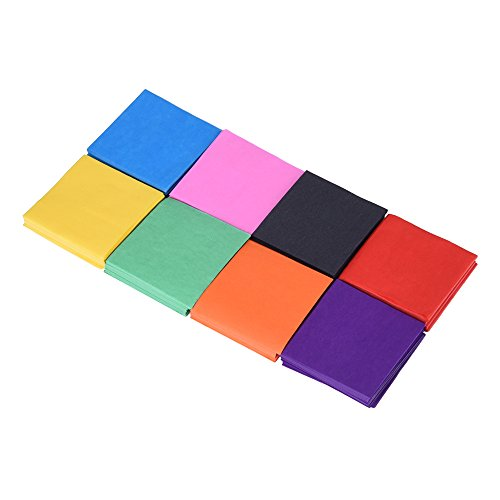 Outus Multicolor Tissue Paper Squares 1.96 x 1.96 Inch, 2400 Pieces