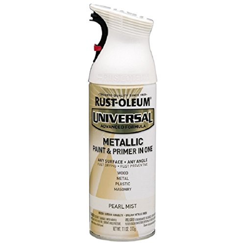 Metallic White Paint (Rust-Oleum 261411 Universal All Surface Spray Paint, 11 oz, Metallic Pearl Mist, Pearl/Off White)