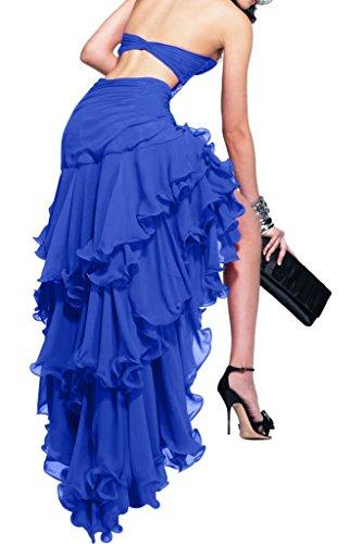 Damen Glamour Ivydressing Steine Herzform Hi Abendkleid Festkleid Lo Royalblau Chiffon dw1q1BRg