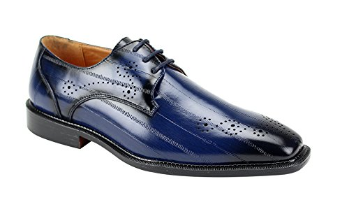 Antonio Cerrelli 6712 Menss Wing Tip Oxford Shoes Navy lafyPXJfA