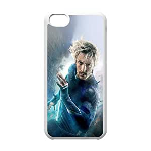 iPhone 5c Cell Phone Case White Avengers Age Of Ultron Aaron Taylor Johnson Quicksilver Qqkfu