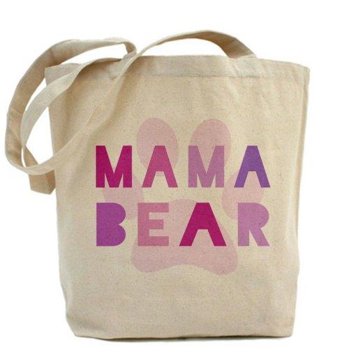 CafePress–Mama Bear–Borsa di tela naturale, panno borsa per la spesa
