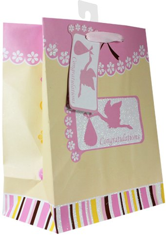 Baby Gift Bags, with glitter, 12 Piece Pack, Medium Photo #3
