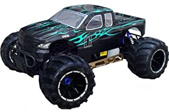 Redcat Racing Rampage MT V3 Gas Truck, Green/Flame, 1/5 Scale
