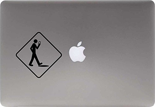 Stupid Smart Phone Vinyl Decal Sticker for Computer Macbook Laptop Ipad Electronics Home Window Custom Walls Cars Trucks Motorcycle Automobile and More (BLACK)