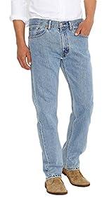 Levi's Men's 505 Regular Fit Jean, Light Stonewash, 42x34