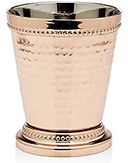 "Godinger Beaded Mint Julep Cup, 3.25"", Copper,54202"