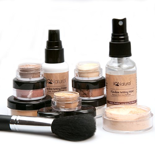 IQ Natural; Pure Minerals Makeup Bare Starter Set with Brush by iQ Natural (Image #4)