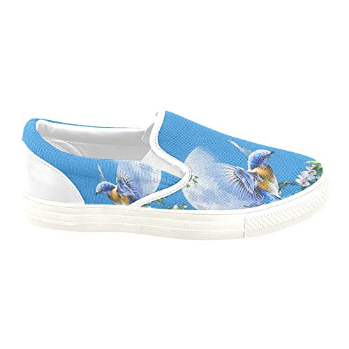 D-story Custom Sneaker Humming Bird Mujeres Zapatos De Lona Antideslizantes Inusuales