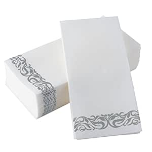 Bloomingoods disposable linen feel guest - Decorative hand towels for bathroom ...